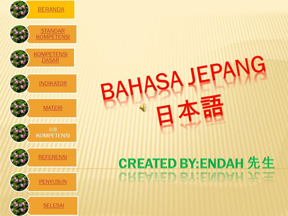BAHASA JEPANG 日本語 Created by:endah 先生