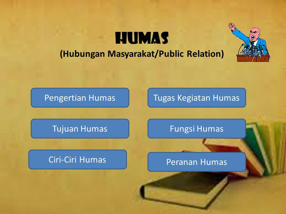 HUMAS (Hubungan Masyarakat/Public Relation)