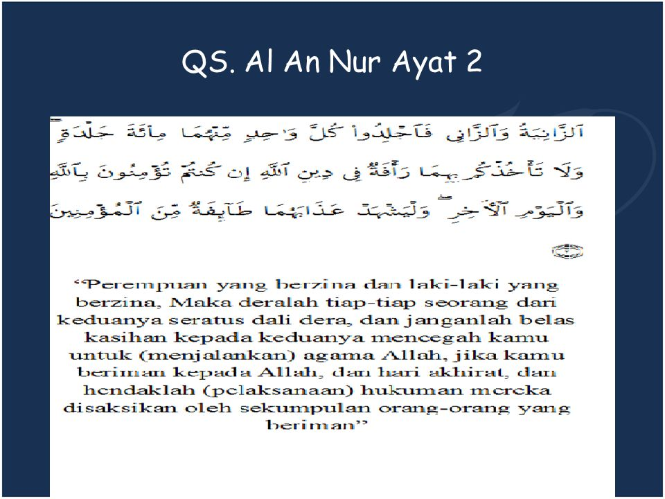 QS. Al An Nur Ayat 2