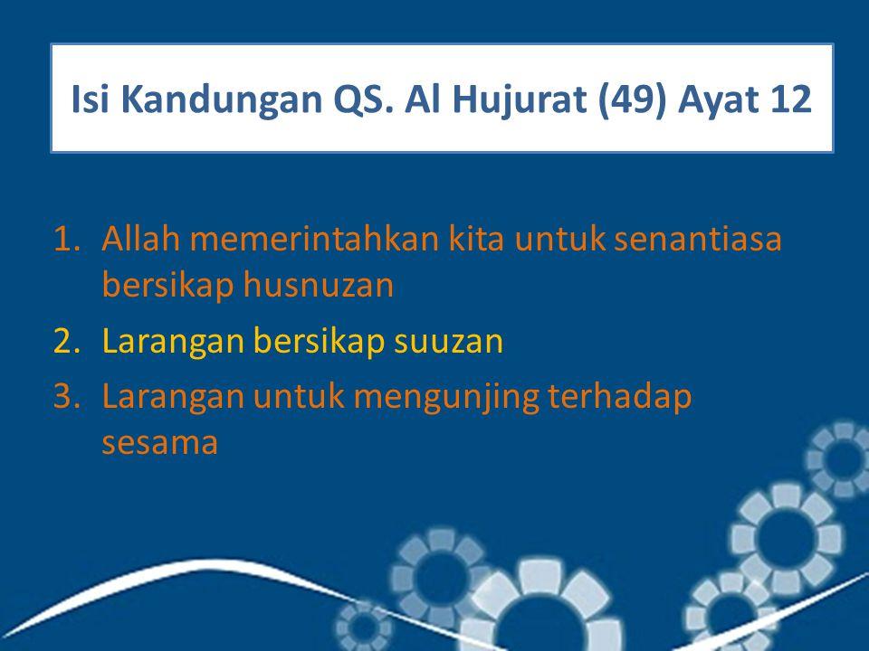 Isi Kandungan QS. Al Hujurat (49) Ayat 12