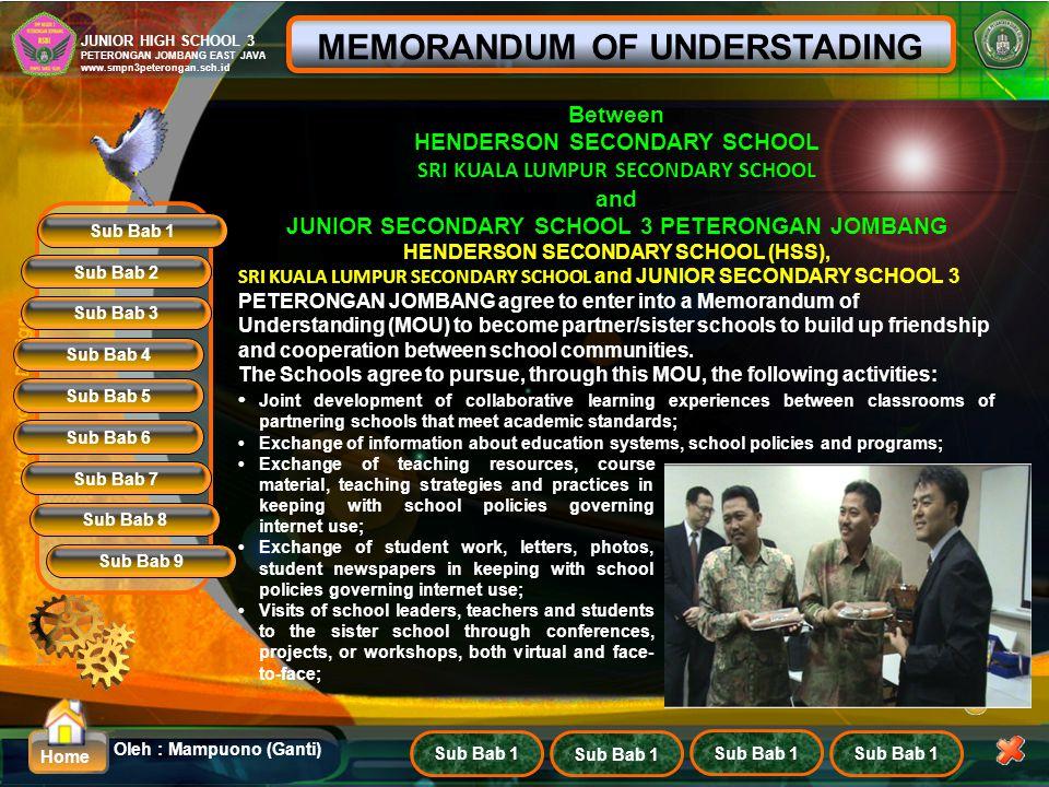 MEMORANDUM OF UNDERSTADING