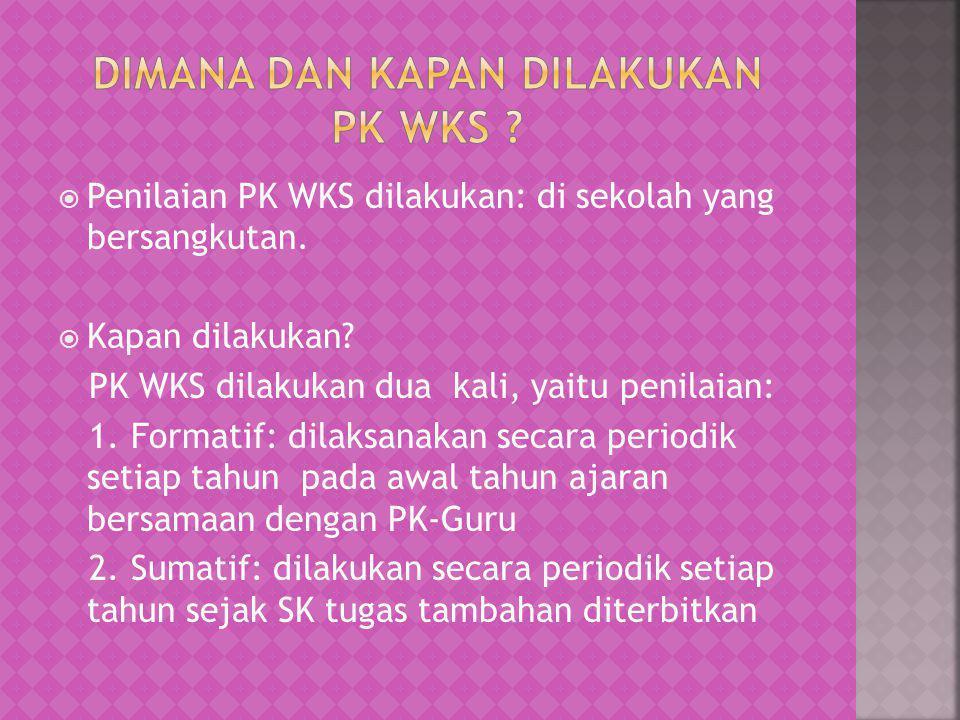 Dimana dan kapan dilakukan PK WKS