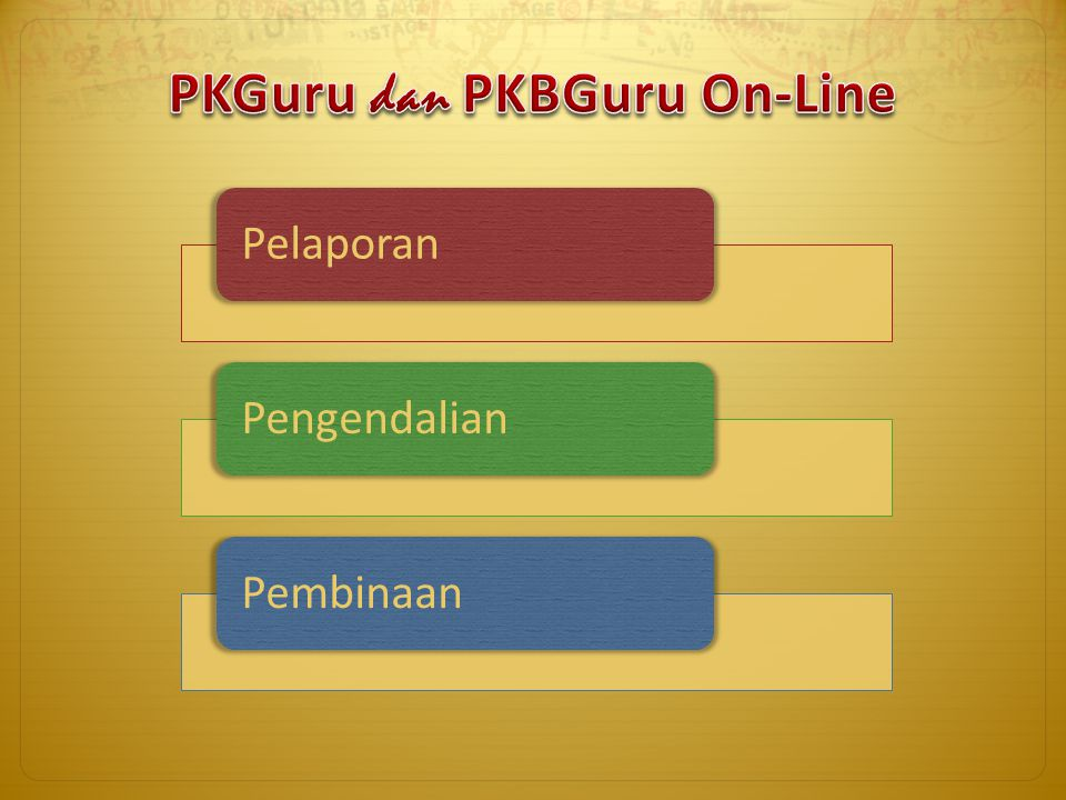 PKGuru dan PKBGuru On-Line