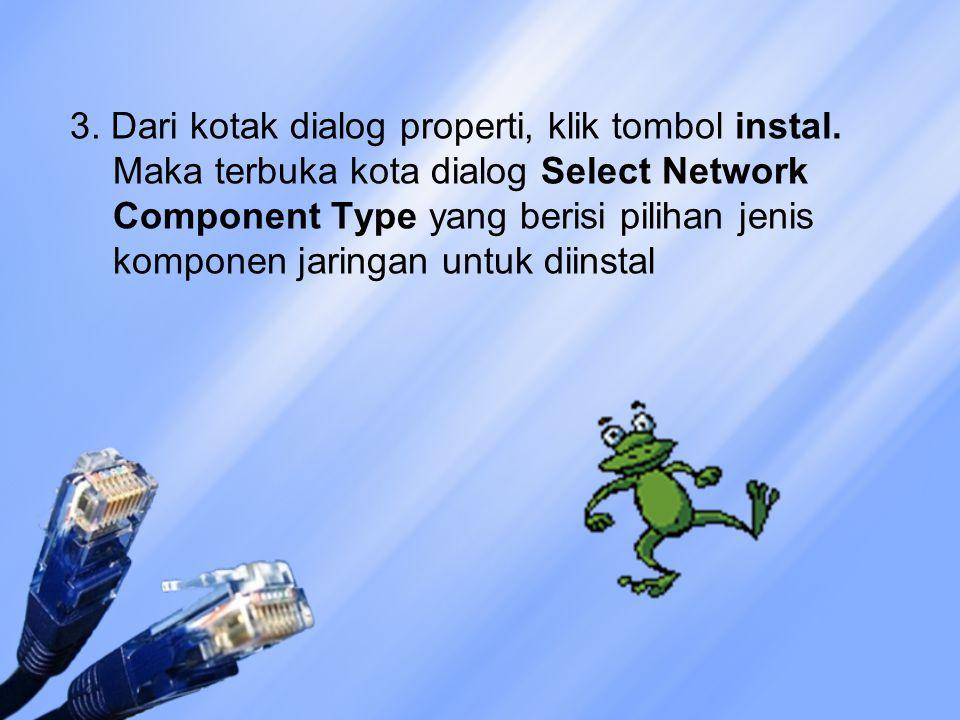 3. Dari kotak dialog properti, klik tombol instal