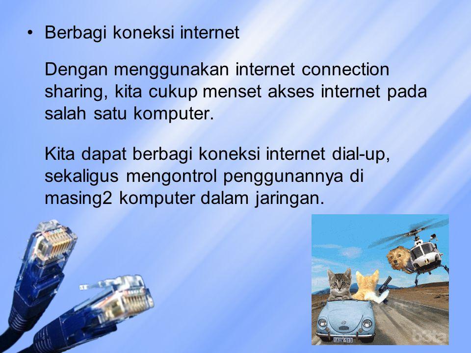 Berbagi koneksi internet
