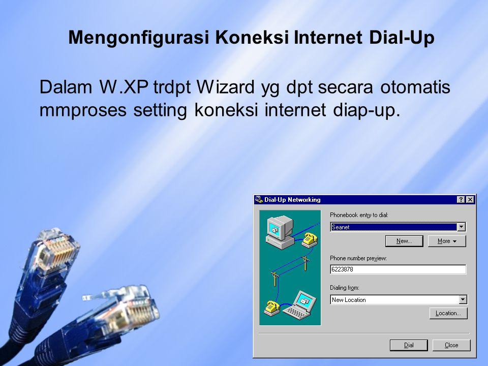 Mengonfigurasi Koneksi Internet Dial-Up