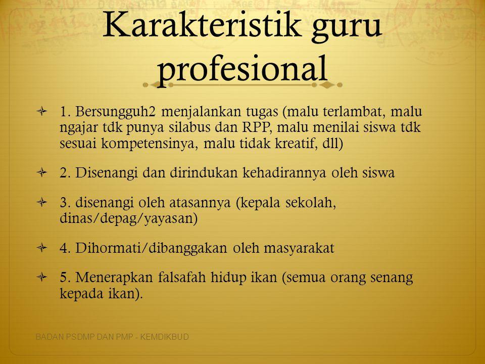 Karakteristik guru profesional