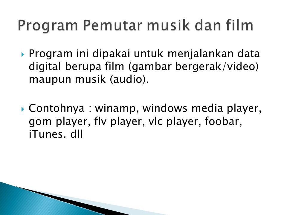 Program Pemutar musik dan film