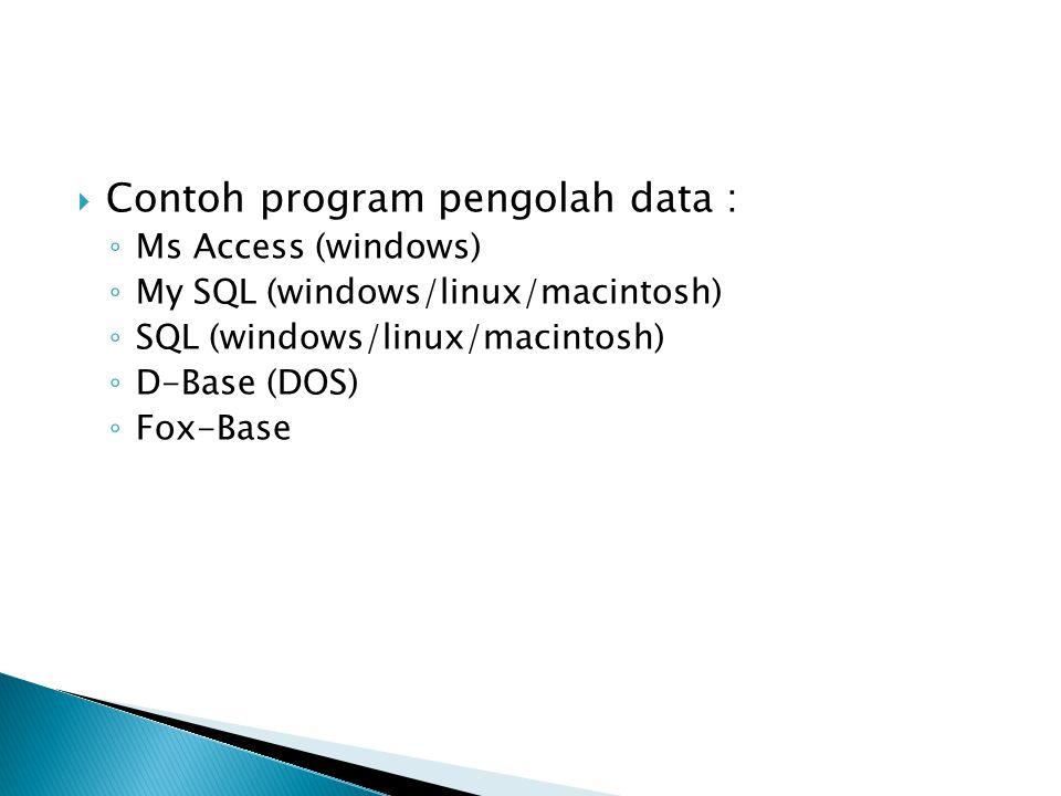 Contoh program pengolah data :