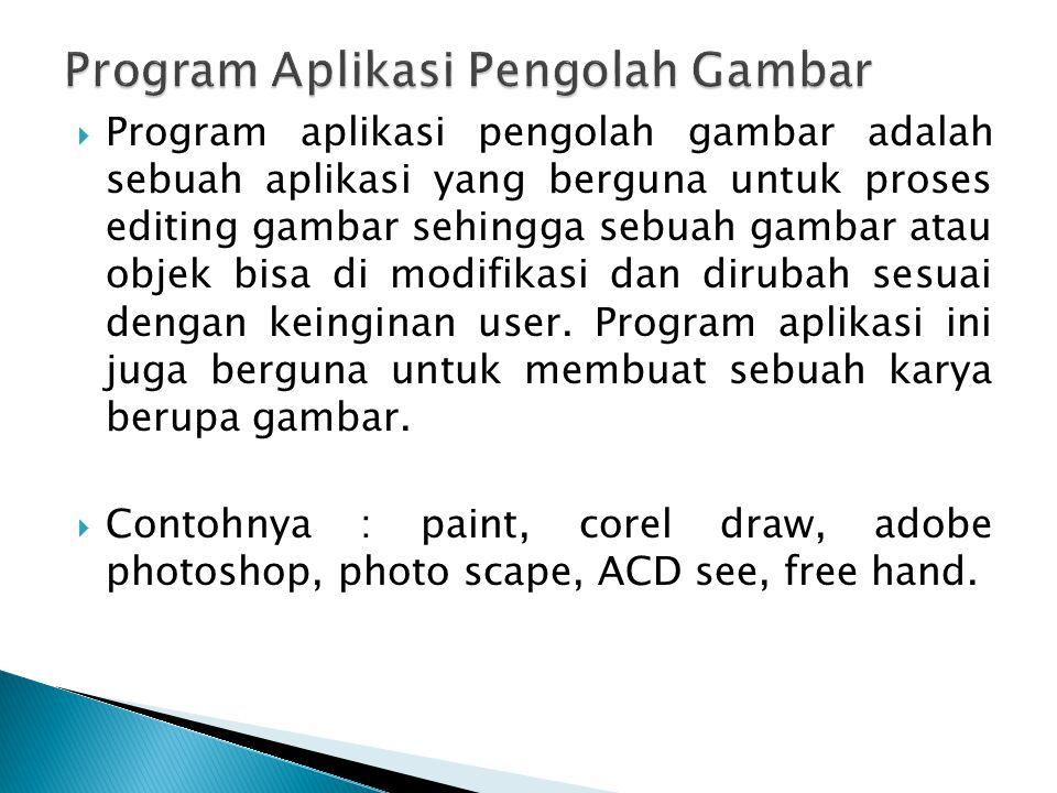 Program Aplikasi Pengolah Gambar