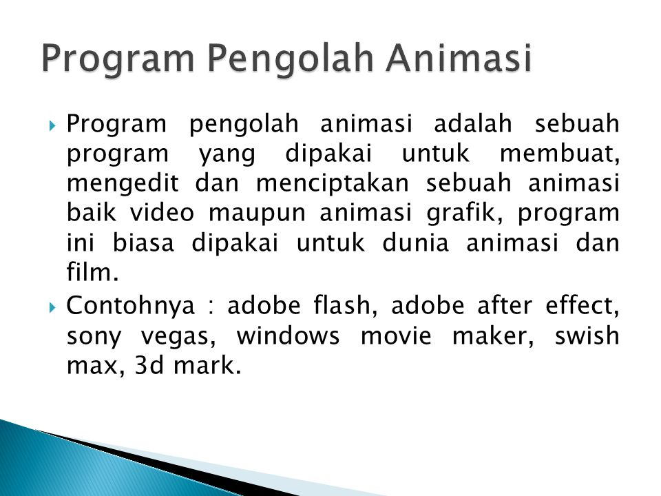 Program Pengolah Animasi