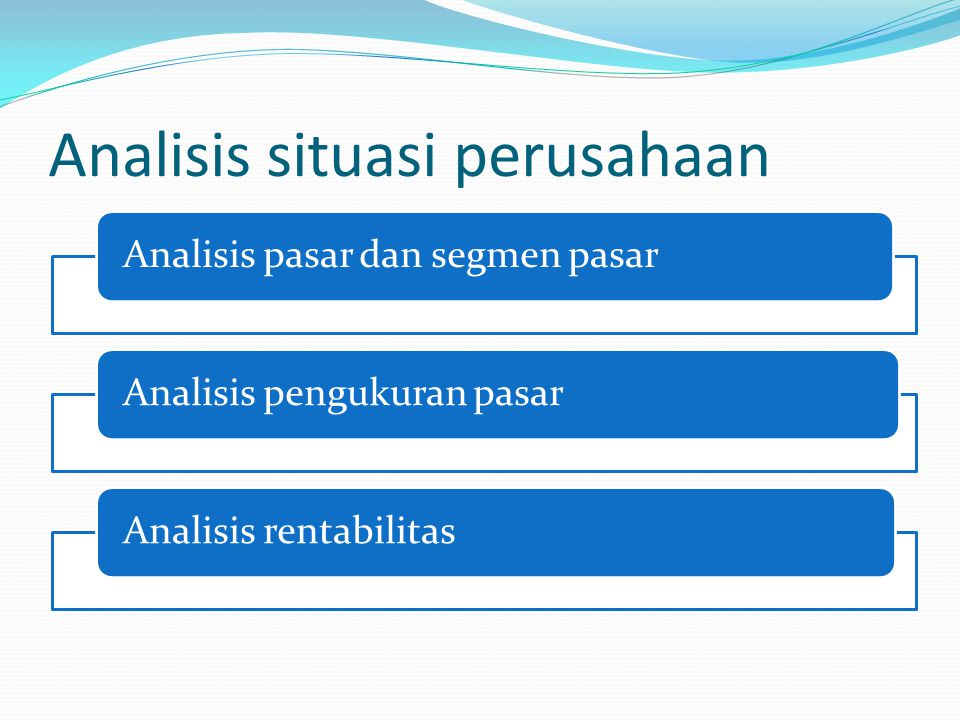 Analisis situasi perusahaan