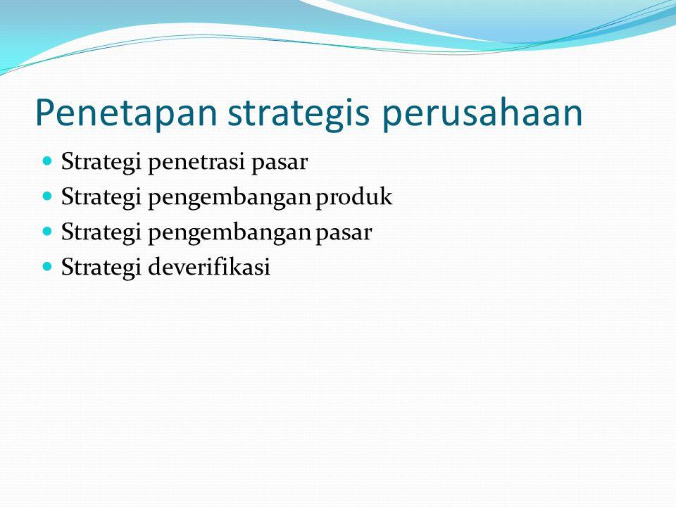 Penetapan strategis perusahaan