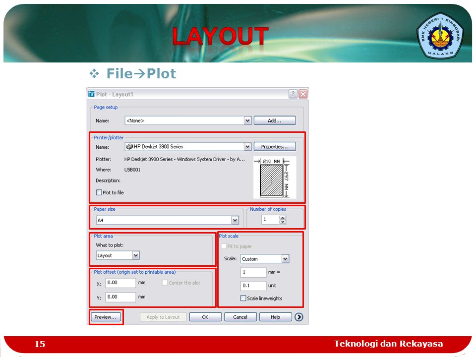 LAYOUT FilePlot Teknologi dan Rekayasa