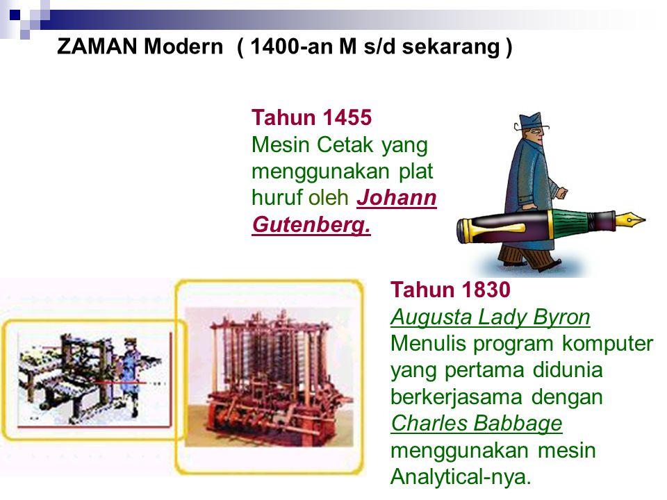 ZAMAN Modern ( 1400-an M s/d sekarang )