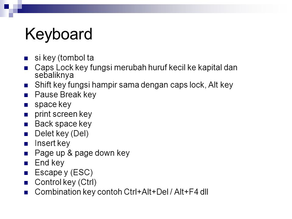 Keyboard si key (tombol ta