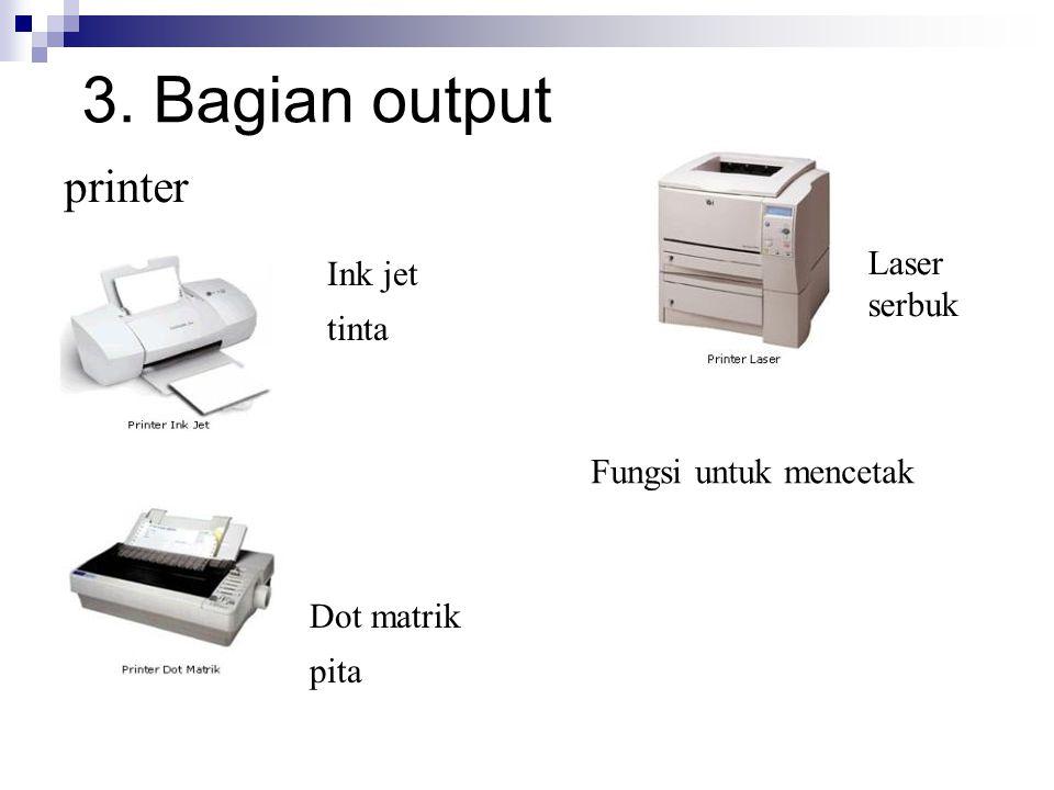3. Bagian output printer Laser Ink jet serbuk tinta