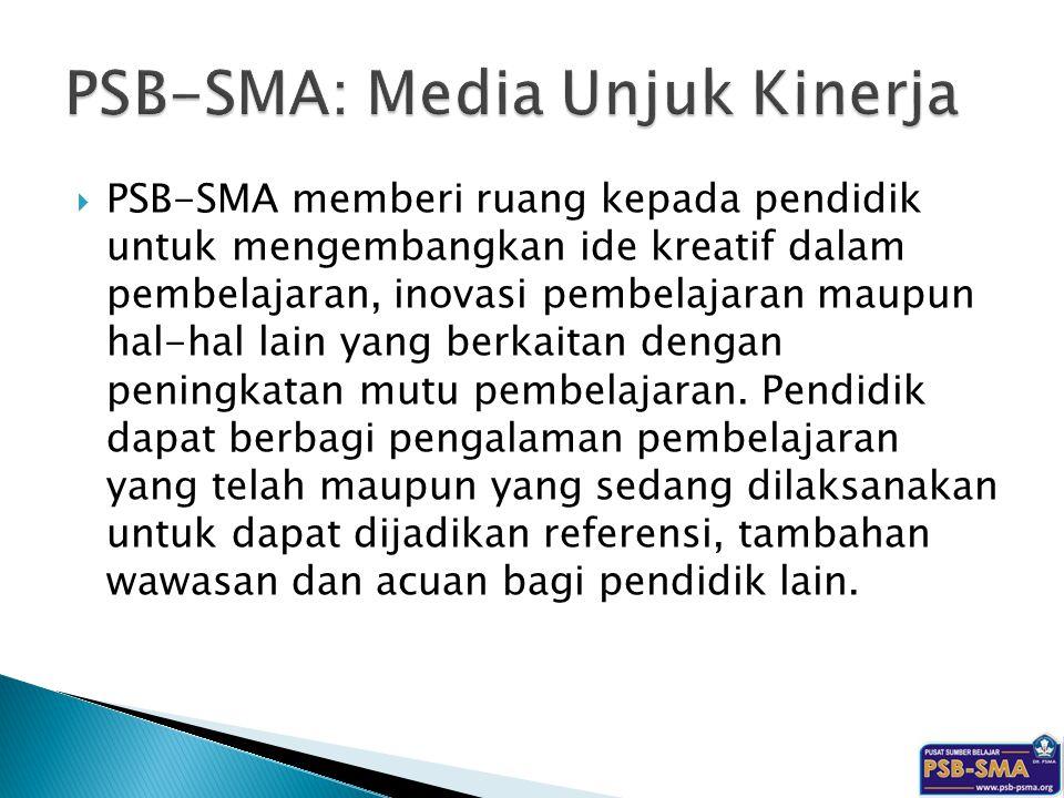 PSB-SMA: Media Unjuk Kinerja