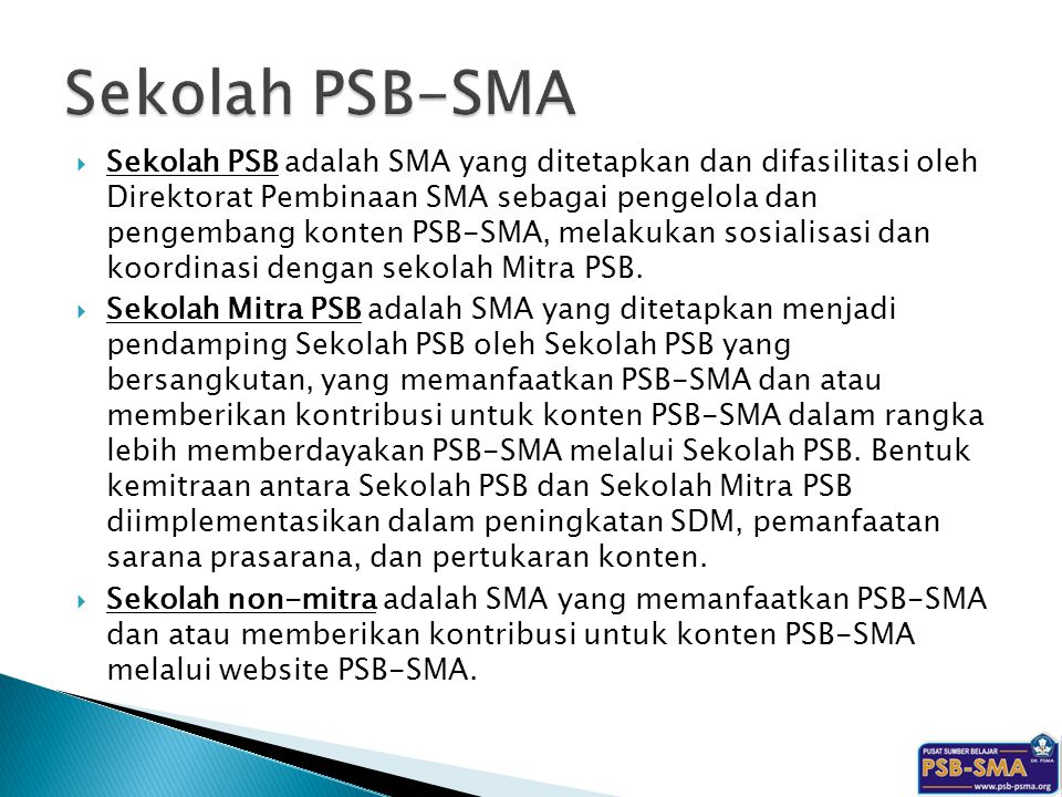 Sekolah PSB-SMA