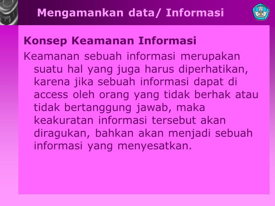 Mengamankan data/ Informasi