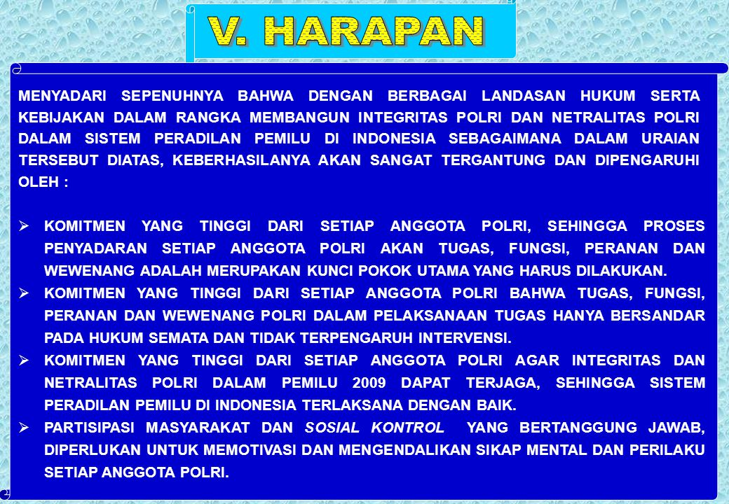 V. HARAPAN