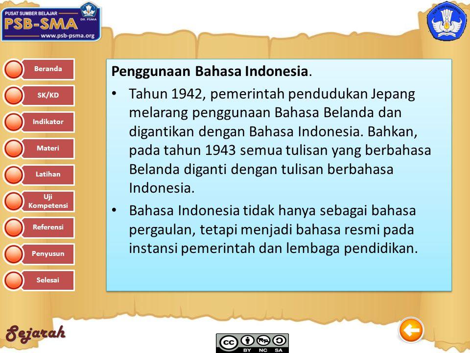 Penggunaan Bahasa Indonesia.