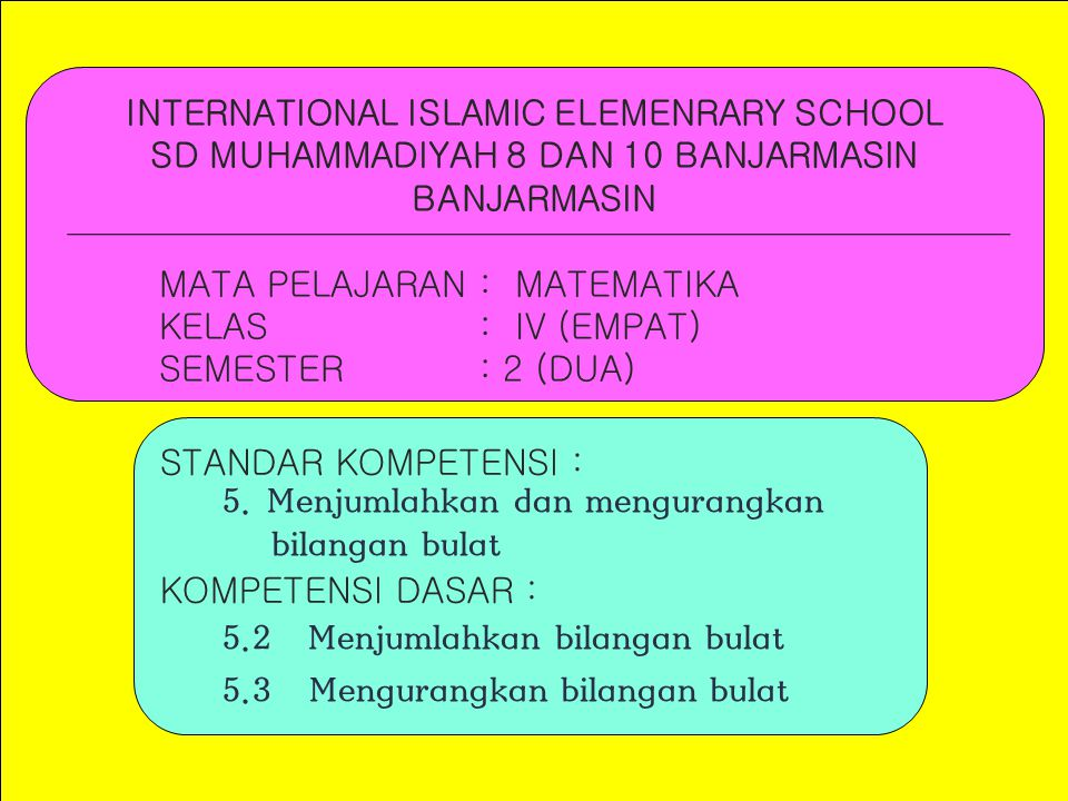 INTERNATIONAL ISLAMIC ELEMENRARY SCHOOL