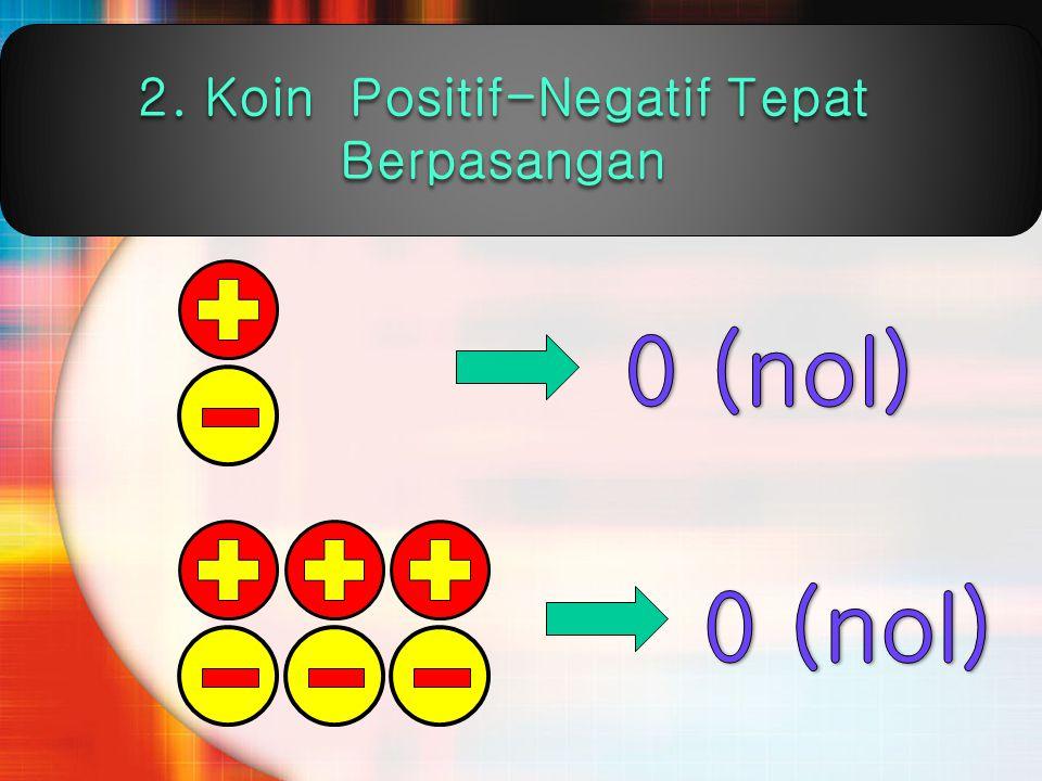 2. Koin Positif-Negatif Tepat