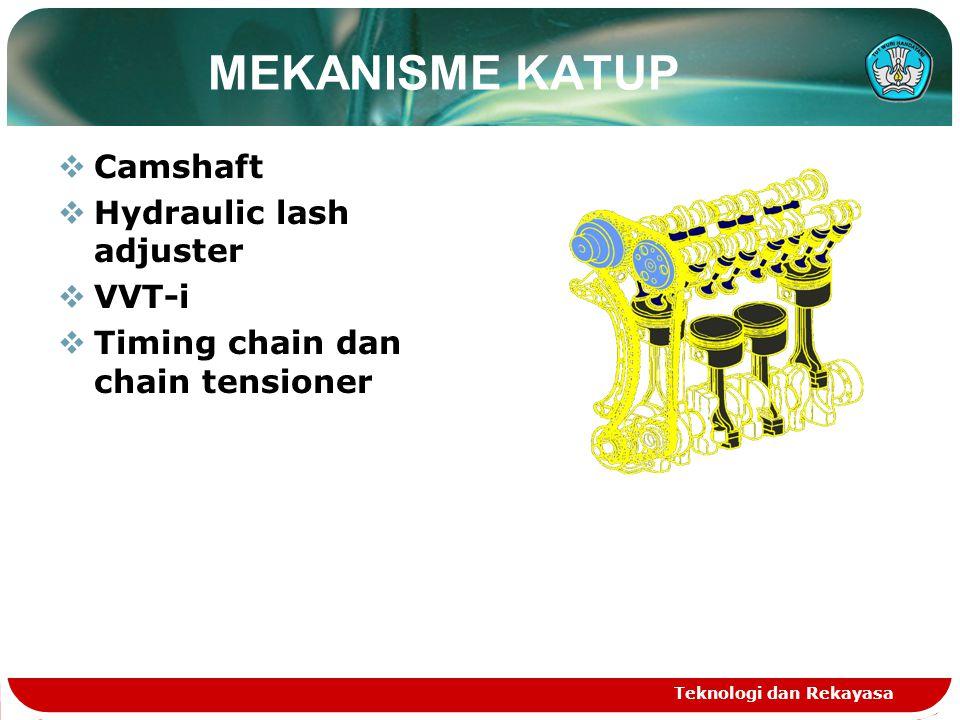 MEKANISME KATUP Camshaft Hydraulic lash adjuster VVT-i