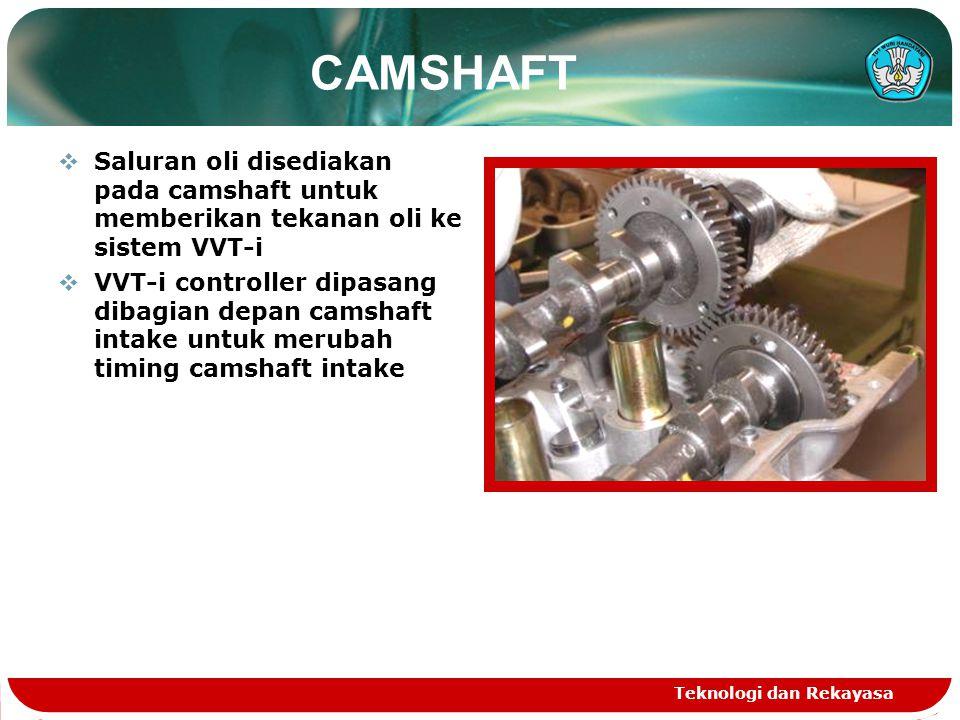 CAMSHAFT Saluran oli disediakan pada camshaft untuk memberikan tekanan oli ke sistem VVT-i.