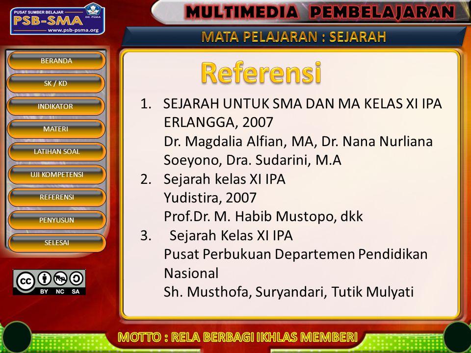 Referensi SEJARAH UNTUK SMA DAN MA KELAS XI IPA ERLANGGA, 2007