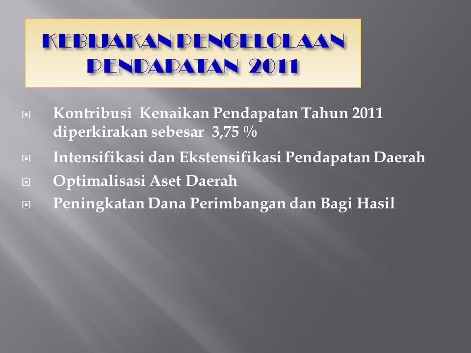 KEBIJAKAN PENGELOLAAN PENDAPATAN 2011
