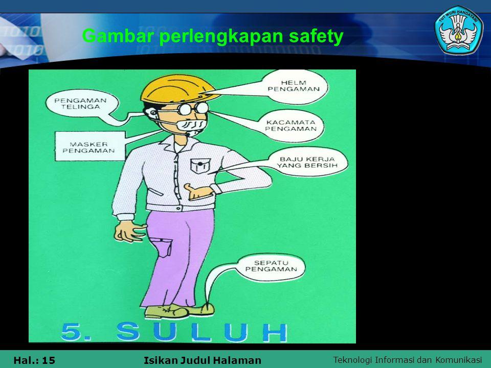 Gambar perlengkapan safety