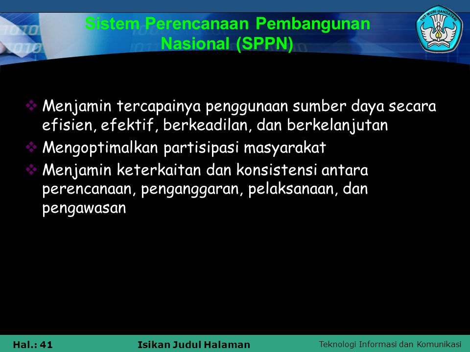 Sistem Perencanaan Pembangunan Nasional (SPPN)