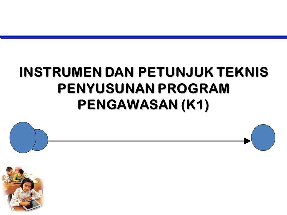 INSTRUMEN DAN PETUNJUK TEKNIS PENYUSUNAN PROGRAM PENGAWASAN (K1)