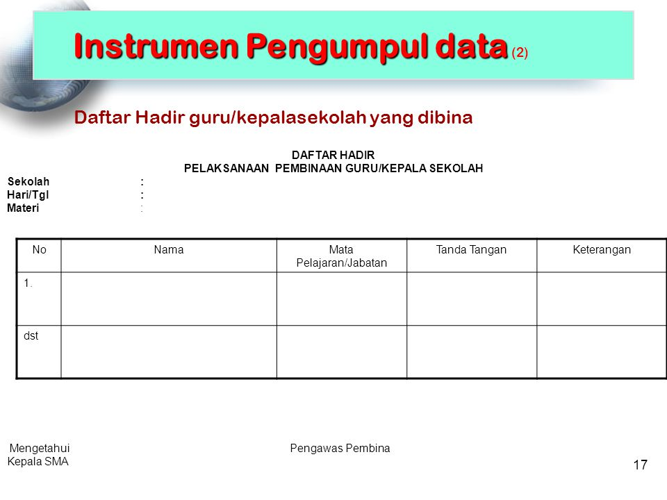 Instrumen Pengumpul data (2)