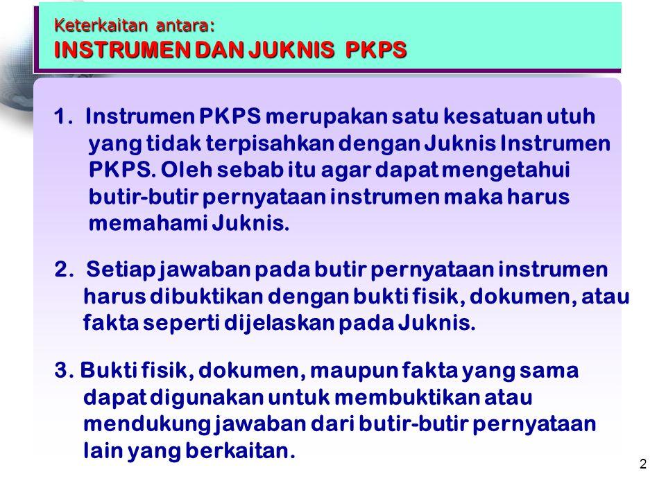Keterkaitan antara: INSTRUMEN DAN JUKNIS PKPS