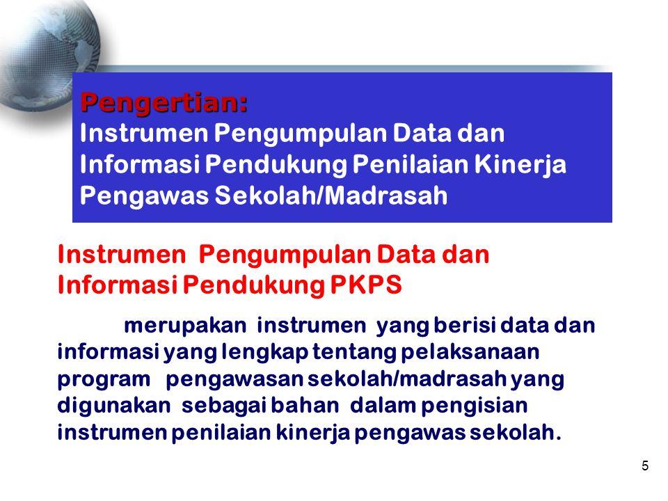 Instrumen Pengumpulan Data dan Informasi Pendukung PKPS