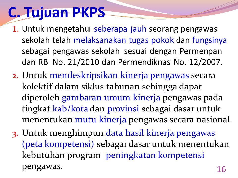 C. Tujuan PKPS