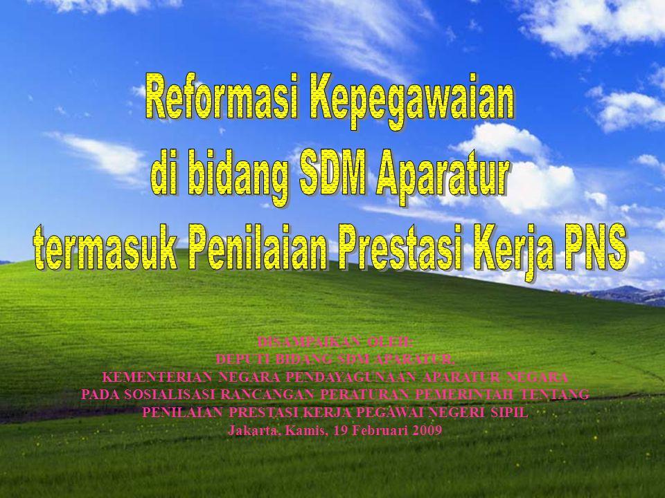 Reformasi Kepegawaian di bidang SDM Aparatur