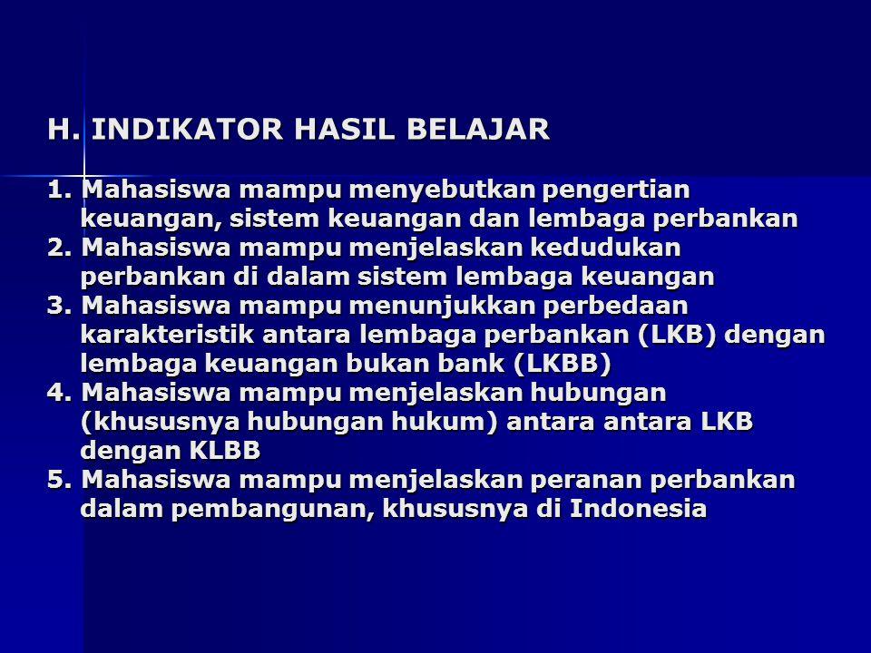 H. INDIKATOR HASIL BELAJAR 1