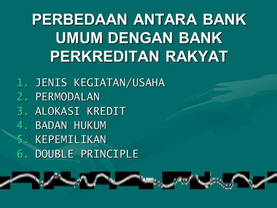 PERBEDAAN ANTARA BANK UMUM DENGAN BANK PERKREDITAN RAKYAT