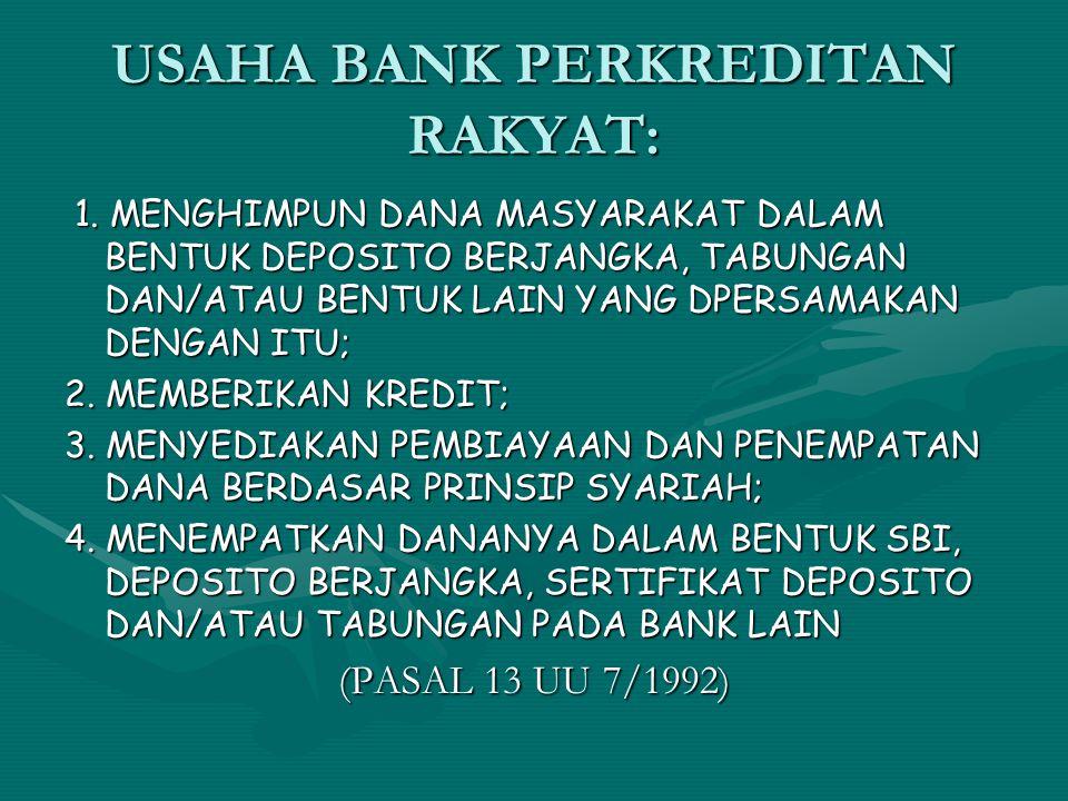 USAHA BANK PERKREDITAN RAKYAT: