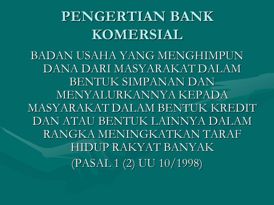 PENGERTIAN BANK KOMERSIAL