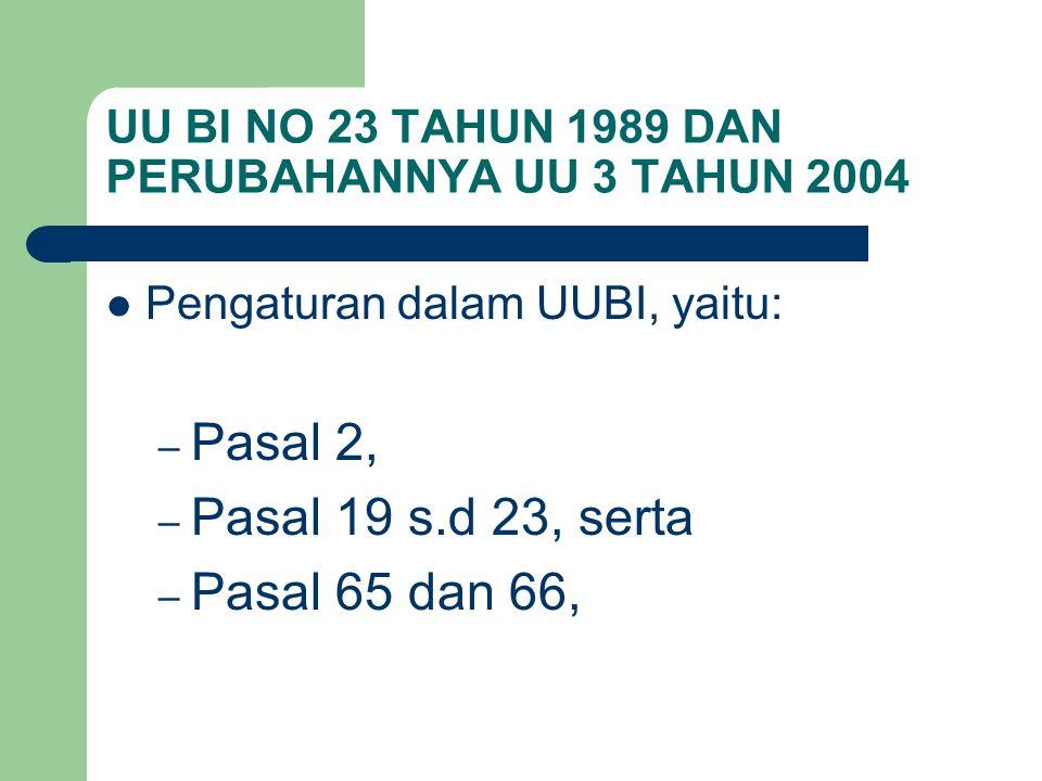 UU BI NO 23 TAHUN 1989 DAN PERUBAHANNYA UU 3 TAHUN 2004