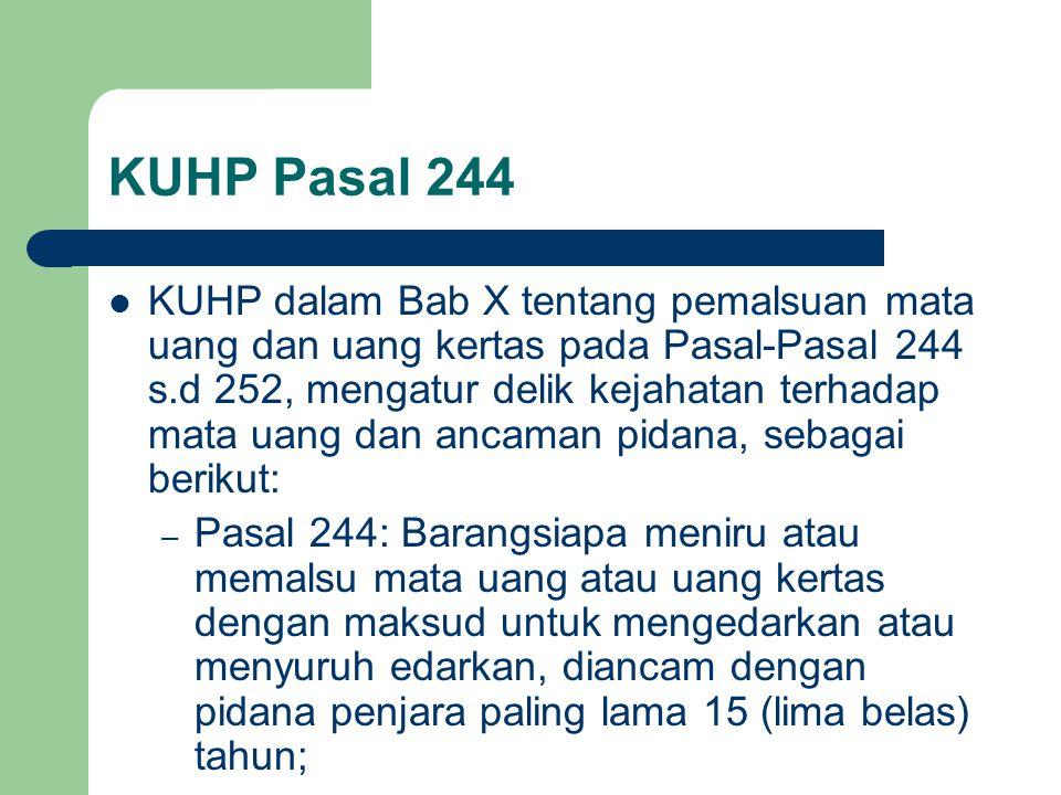 KUHP Pasal 244