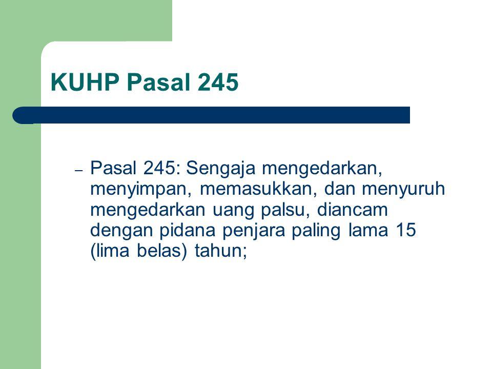 KUHP Pasal 245