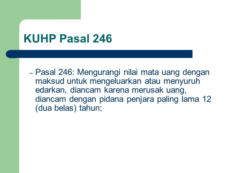 KUHP Pasal 246