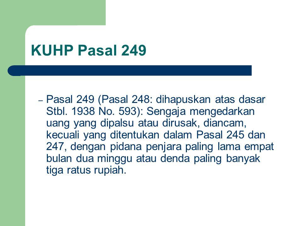 KUHP Pasal 249