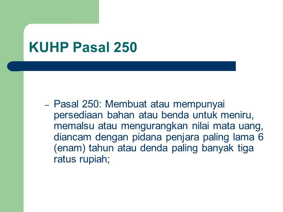 KUHP Pasal 250